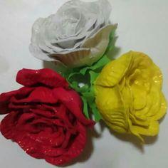 Rosas de EVA para topo de bolo