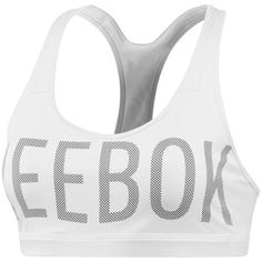 Reebok Hero Racer Padded Sports Bra ($40) ❤ liked on Polyvore featuring activewear, sports bras, reebok activewear, racer back sports bra, mesh sports bra, padded sports bra and racerback sports bra