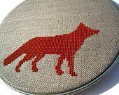 Fox modern cross stitch pattern by wallwork on Etsy