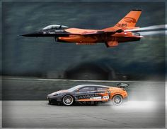 Dutch F-16 vs Nissan GTR