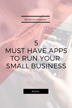 I've written an article about the 5 Must Have Apps For Your Small Business. To find out which ones I simply cannot live without, click to find out.