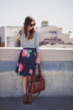 We love the mix of florals and stripes!