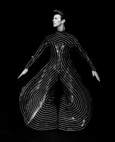 The Milanese. » David Bowie, Silver Gelatin Photograph by Herb Ritts, 1989.