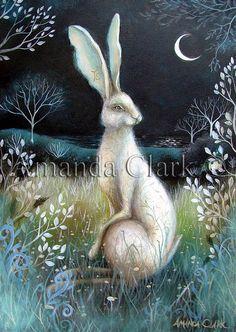 Un art de conte de fées imprimer intitulé 'Hare par earthangelsarts