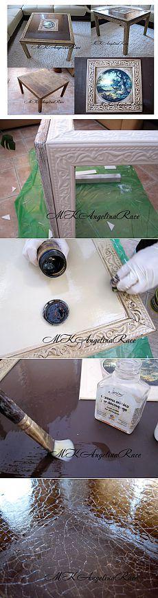 Переделка старого журнального столика с багетами из пенопласта. МК..