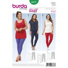 Burda Style Pattern 6677 Women's Leggings