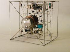 Skeletal nixie tube clock