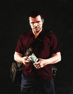 Michael is my favorite of the three characters in GTA V!! He has a family, big house, nice car....