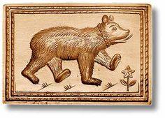 Springerle mold: bear, www.springerle.com - Details zu Artikel 3441
