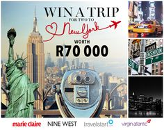 Win A Trip For Two To New York Worth R70 000!