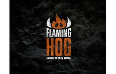 Flaming Hog BBQ logo by Nathan Trafford