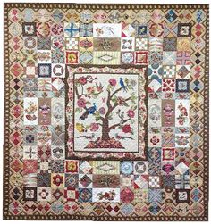 Worthing Downs by Megan Caroll    Inspiration-Sundial Coverlet ~ offered as a BOM