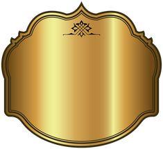 Метка Золото Роскошные Шаблон Клипарт Картинка