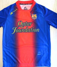 """BARCELONA # 10 MESSI KIDS SOCCER JERSEY (SIZE 10) FOR 7 TO 8 YEARS OLD.NEW by AGMAR. $19.95. BARCELONA # 10 MESSI SOCCER JERSEY  SIZE 10 FOR 7 TO 8 YEARS OLD     YOU MUST ADD THIS ONE TO YOUR COLLECTION !!!!   SIZE USA KIDS SIZE 10 FOR 7 TO 8 YEARS 16""""ARMPIT TO ARMPIT BY 22"""" FROM NECK TO BOTTOM.  THIS JERSEY IS AWESOME. GREAT DETAILS. COLLECTORS ITEM.  MADE DURABLE, BREATHABLE POLYESTER (100%).  EMBROIDERY SOCCER TEAM LOGO.   THIS JERSEY HAS AN ELEGANTLY SLEEK DESIGN WHICH MA..."""