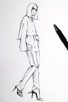 Fashion illustration - chic fashion sketching: