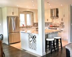 19,065 kitchen island with support beams Home Design Photos