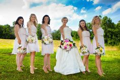A gorgeous real Donna Morgan wedding featuring our Donna dress