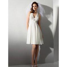 beach wedding dresses short | Short Beach Wedding Dresses, Casual Chiffon Reception Wedding Gowns ...