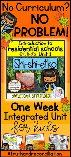 Introduce your students to Canada's residential school system using this week-long integrated language arts and social studies unit based on the award winning picture book, Shi-shi-etko by Nicola I. Residential Schools Canada, Indian Residential Schools, Kindergarten Lesson Plans, Kindergarten Lessons, High School Activities, Literacy Activities, Aboriginal Art For Kids, Indigenous Education, Ontario Curriculum