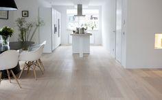 Eiken houten vloer wit geolied