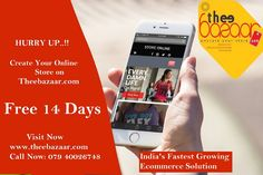 Build an #onlinestore with Thee Bazaar, trusted by Two Hundred of successful merchants online. Sign up for a FREE 14-day trial, no credit card necessary. So Hurry Up and Visit website and Register your store at http://www.theebazaar.com/