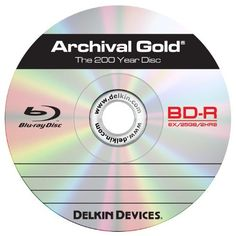 Delkin DDBD-R/25 SPIN 6X 200 Year 6x Blu-Ray Disc, 1 Pack by Delkin. $269.99. Archival Gold 6X BD-Rs offer the most unique and trustworthy discs to safely store your most treasured digital data. This is the only storage medium guaranteed 100% uneditable, inerasable and tested to endure up to 200 years based on the National Institute of Standards and Technology. Users can conveniently refer back to their original data files & images when necessary and even pass them alon...