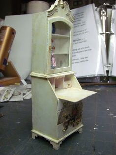 Dollhouse Miniature Furniture - Tutorials | 1 inch minis: ladies secretary