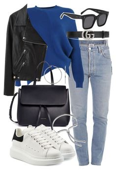 """""""Untitled #20842"""" by florencia95 ❤ liked on Polyvore featuring Vetements, Acne Studios, Mansur Gavriel, CÉLINE, Alexander McQueen, Gucci and Monica Vinader"""