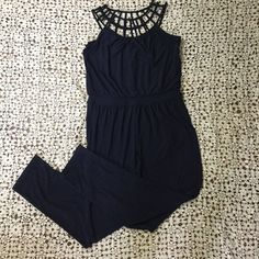 ce1861d0bef White House Black Market Womens Jumper Jumpsuit Size 10 Navy Blue Pants WHBM   fashion  clothing  shoes  accessories  womensclothing  jumpsuitsrompers ( ebay ...