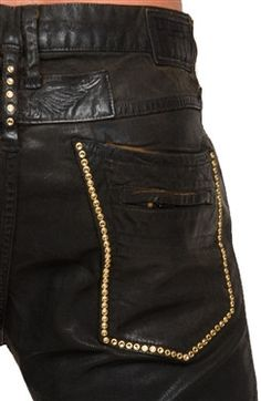 Robin's Jean in Cuir Black (Colorado Topaz Swarovski)