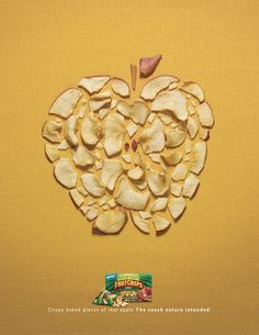 cool examples of food advertising Fruit crisps Funny Advertising, Funny Ads, Creative Advertising, Advertising Poster, Advertising Design, Product Advertising, Advertising Ideas, Advertising Campaign, Funny Commercials