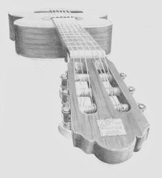 how to draw a guitar easy step by step