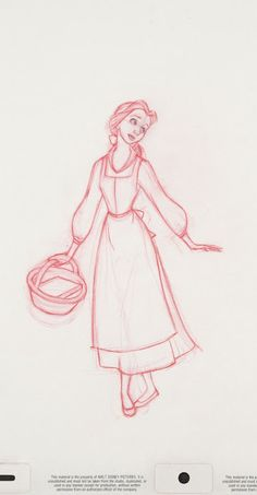 Disney's Beauty and The Beast Character Sketch Art