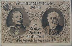 Erinnerungspostkarte an den Besuch des Deutschen Kaisers Wilhelm II in der Schweiz, 1912 (ETH-Bibliothek, Bildarchiv, Fel_070132-RE).
