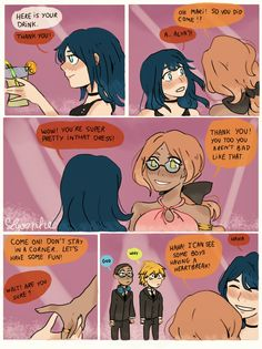 Some Alya and Marinette, I love their relationship! They are in the prom night of their school lol or something like this