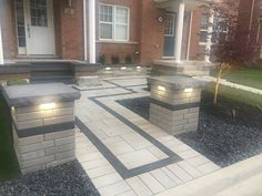 Imperial Stone and Design is a quality, full service design and landscaping company serving Milton, Oakville, and Burlington, Ontario. Landscaping Company, Front Entrances, Curb Appeal, Service Design, Ontario, New Homes, Patio, Landscape, Stone