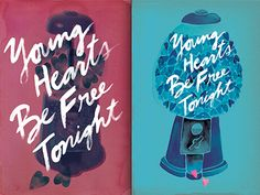 Which poster? designed by Karen Kurycki. Connect with them on Dribbble; Typography, Hearts, Neon Signs, Fire, Poster, Inspiration, Biblical Inspiration, Letterpress Printing, Posters