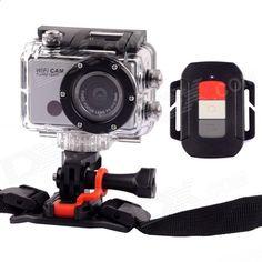 WDV5000 FHD 1080P 5.0 MP CMOS Wi-Fi DV Sports Camera w/ Remote Control for Phone / Tablet