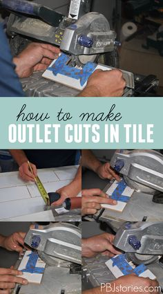 How to cut backsplash tiles for outlets and light switches | PBJstories