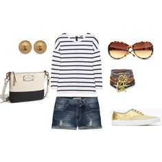 Swap those ugly gold shoes out for a pair of TOMS and it's a great weekend outfit!