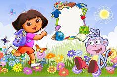 Dora the Explorer: Invitations and Free Party Printables. Dora Wallpaper, 4th Birthday, Birthday Parties, Birthday Ideas, Oh My Fiesta, Dora The Explorer, Blogger Templates, Party Printables, Nursery Art