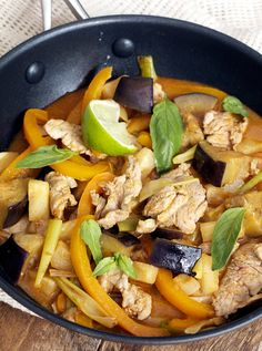 Pork and Pineapple Jungle Curry made with red curry paste and aromatic spices such as lemon grass, ginger, chillies and lime.