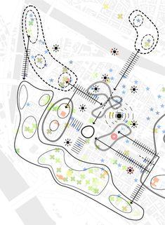 Urban Catalyst Studio - de - Eki Mannheim - Eva Architektur Home Villa Architecture, Landscape Architecture Design, Concept Architecture, Urban Design Diagram, Urban Design Plan, Landscape Diagram, Urban Landscape, Urbane Analyse, Masterplan