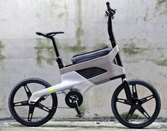the urban bike concept by french carmakers peugeot features a built-in carrier for laptops and documents. - Sports et équipements - Velo - Peugeot Design Lab, Velo Design, Bicycle Design, Design Ideas, Urban Bike, Peugeot Bike, Commuter Bike, Transportation Design, Cool Bikes