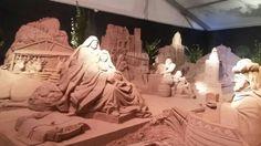 Presepe di sabbia a piazzale Boscovich a #rimini