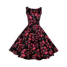 Partiss Damen Frauen klassischer Jahrgang 1950 Blumendruck Rockabilly Swin Party Kleid Abendkleid,Tag L/EU S,Black Partiss http://www.amazon.de/dp/B01D466136/ref=cm_sw_r_pi_dp_isibxb01FV9DQ