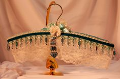 Padded WeDDING HANGeR  HANGER COUTURE  by TheGoldenTurtle on Etsy, $45.00