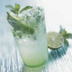 Traditional Mojito - I love to add fruit to to jazz it up. ( peaches and strawberries work great - muddle up with the mint and lime)