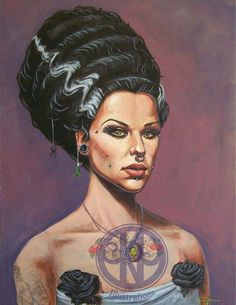 Bride of Frankenstein by KeithPacheco on Etsy, $10.00