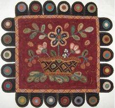 wool penny rugs   Coneflower Wool